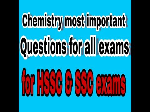 Chemistry Most Important Questions For All SSC  And HSSC Exams