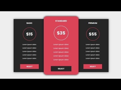 Pricing Table with html and css | How to design a pricing table with html and css