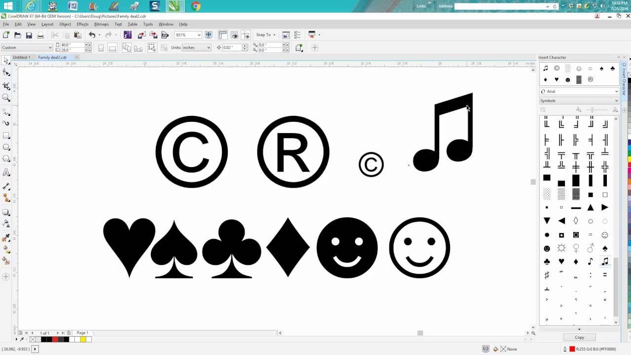 how to rotate in corel draw