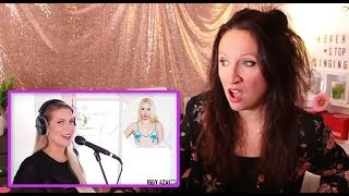 Vocal Coach REACTS to 1 GIRL 13 VOICES (Ariana Grande, Lady Gaga, Selena Gomez, Cher and many more)