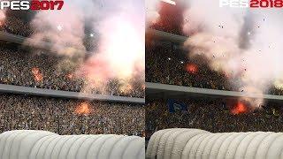 PES 2017 vs. PES 2018 PC GRAFİK KARŞILAŞTIRMASI