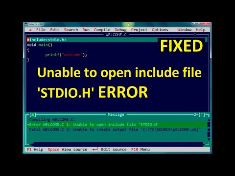 Unable to Open include file stdio.h in turbo c