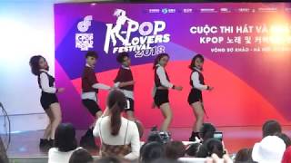 kpop lovers festival 2018 whatta man ice cream cake red flavor dance cover red finix