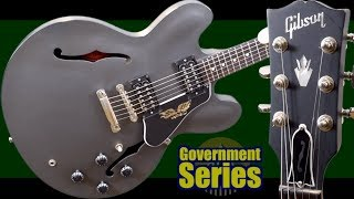 The Lone Governor   2015 Gibson ES 335 Government Series Gun Metal Gray   Review + Demo