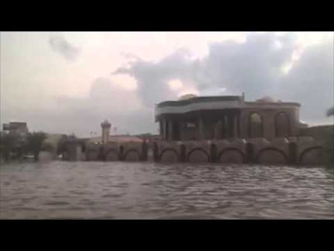 Video footage of the flooding in Khor Fakkan
