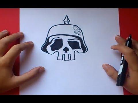 Como dibujar una calavera paso a paso 2 | How to draw a skull 2 ...
