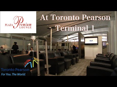 Quick view of the Plaza Premium Lounge at Toronto Pearson International Airport Terminal 1