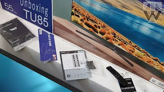 Samsung TU8500 Quick Unboxing + Setup with Demo