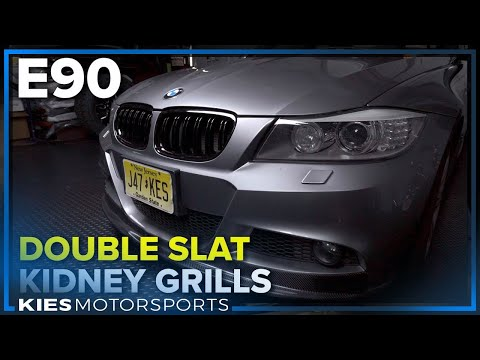 DIY: How to install BMW E90 KIDNEY GRILLS (LCI edition)