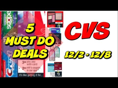5 MUST DO CVS DEALS 12/2 - 12/8 | CHEAP MAKEUP, TOOTHPASTE & MORE!