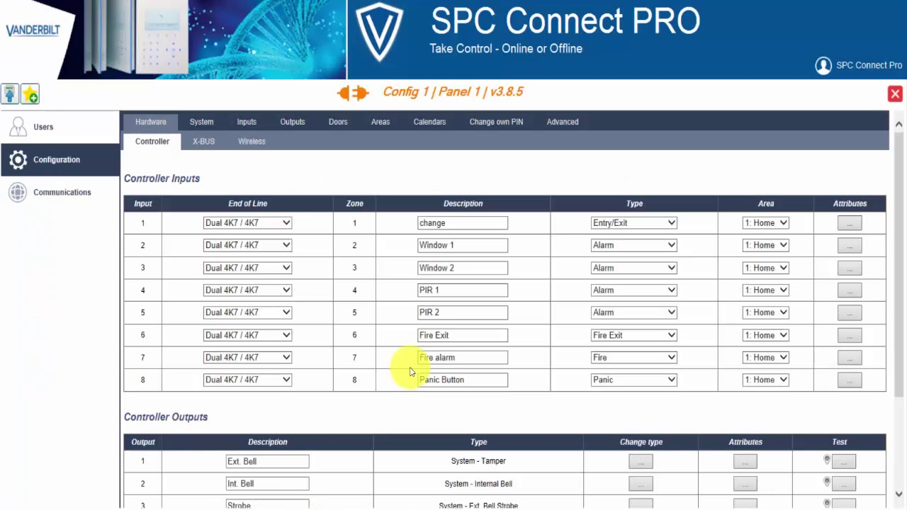 SPC Connect Pro - Desktop programming tool for SPC systems
