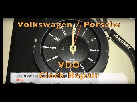 Volkswagen Porsche VDO Analog Clock Troubleshoot And Repair Part 2 Of 2