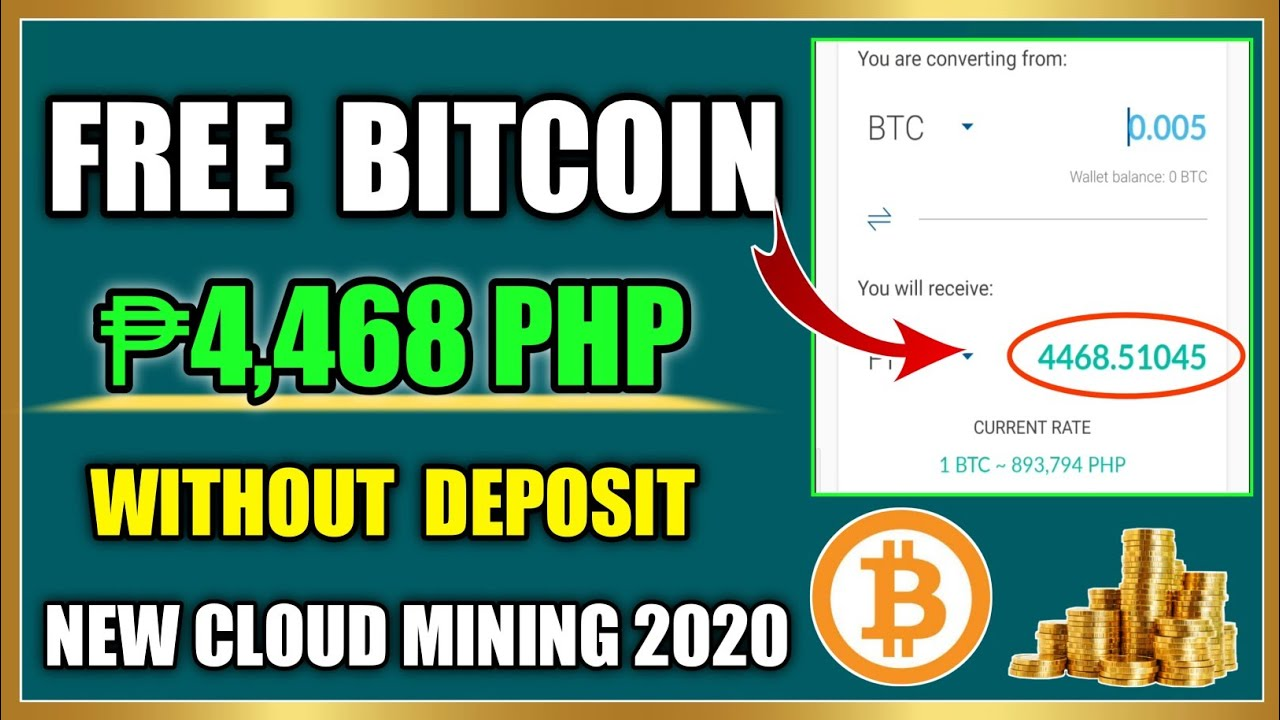 Bagong Cloud Mining Without Deposit Earn Free 4 468 Pesos New Cloud Mining 2020 Youtube