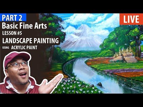 Part 2: Basic Fine Arts: Landscape Painting using Acrylic