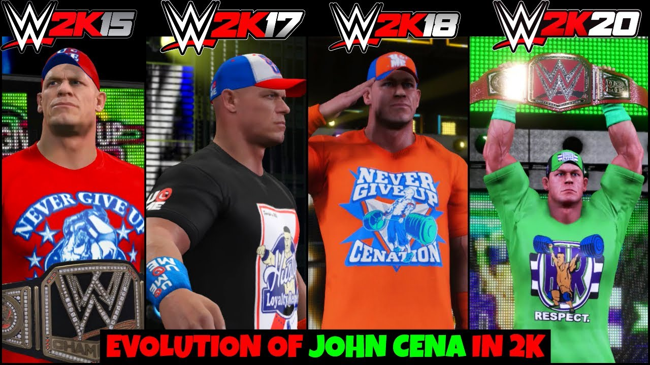 JOHN CENA EVOLUTION IN WWE 2K GAMES   WWE 2K15 - 2K20    WWE 2K EVOLUTION  