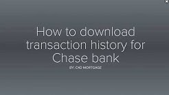 How to download detailed bank history for Chase bank
