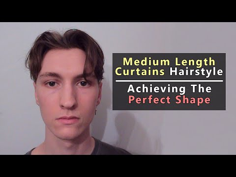 Medium Length Curtains Hairstyle Tutorial | How To Get The Perfect Shape