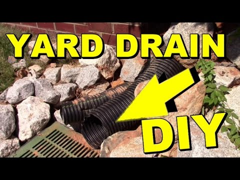 French Drain Yard Drain Off Steep Hill Diy Youtube