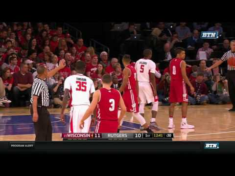 College Basketball Rutgers vs Wisconsin at Madison Square Garden Jan 28, 2017