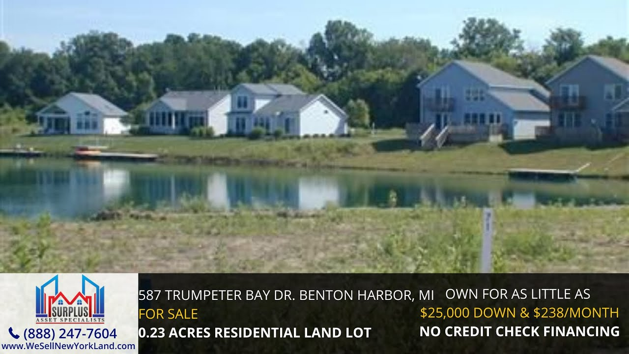587 Trumpeter Bay Dr. Benton Harbor, MI - Wholesale Land For Sale Michigan www.WeSellNewYorkLand.com