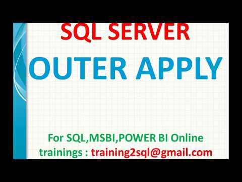 Outer Apply In Sql Server | Difference Between Outer Apply And Left Join In SQL