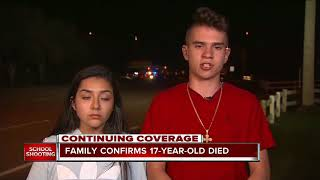 Family confirms 17-year-old died in south Florida school shooting