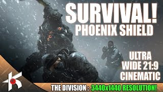 The Division | Phoenix shield Survival Run Cinematic ULTRAWIDE PC Gameplay 3440x1440 21:9