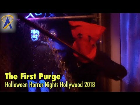 The First Purge Maze At Halloween Horror Nights Hollywood 2018