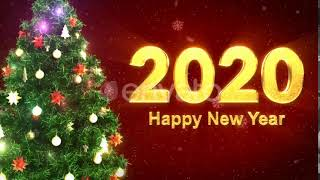 Happy New Year 2020 With Christmas Tree