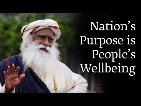 Nation's Purpose is People's Wellbeing