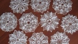 Как вырезать снежинки Видео онлайн. Cut snowflakes online.