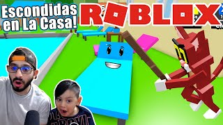 Escondidas en La Casa del Gato Malo | Roblox Hide and Seek | Juegos Karim Juega
