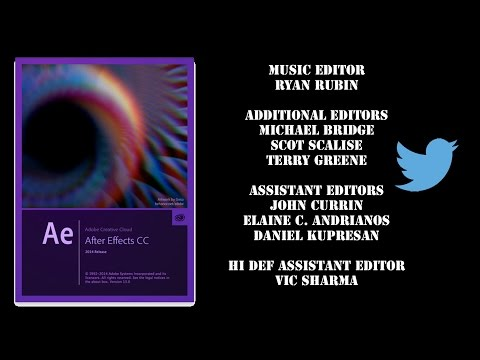 After Effects CC 2014 How to make Scrolling Credits, Titles, or Credit roll