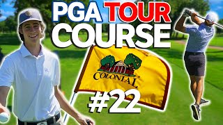 Playing PGA Tour Course | Sunday Match #22 | Colonial Country Club | Garrett VS Micah