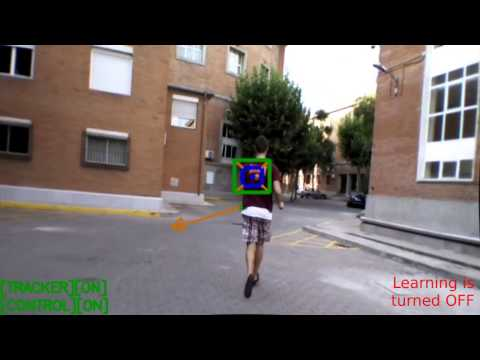 Image Based Object Tracking and Following for Quadrotor Vehicles    Person running following, hud an
