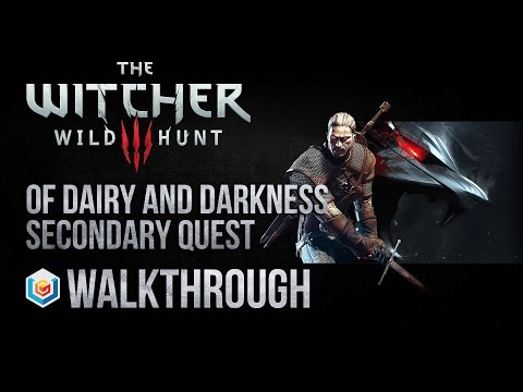 The Witcher 3 Wild Hunt Walkthrough Of Dairy and Darkness Secondary Quest Guide Gameplay/Let's Play