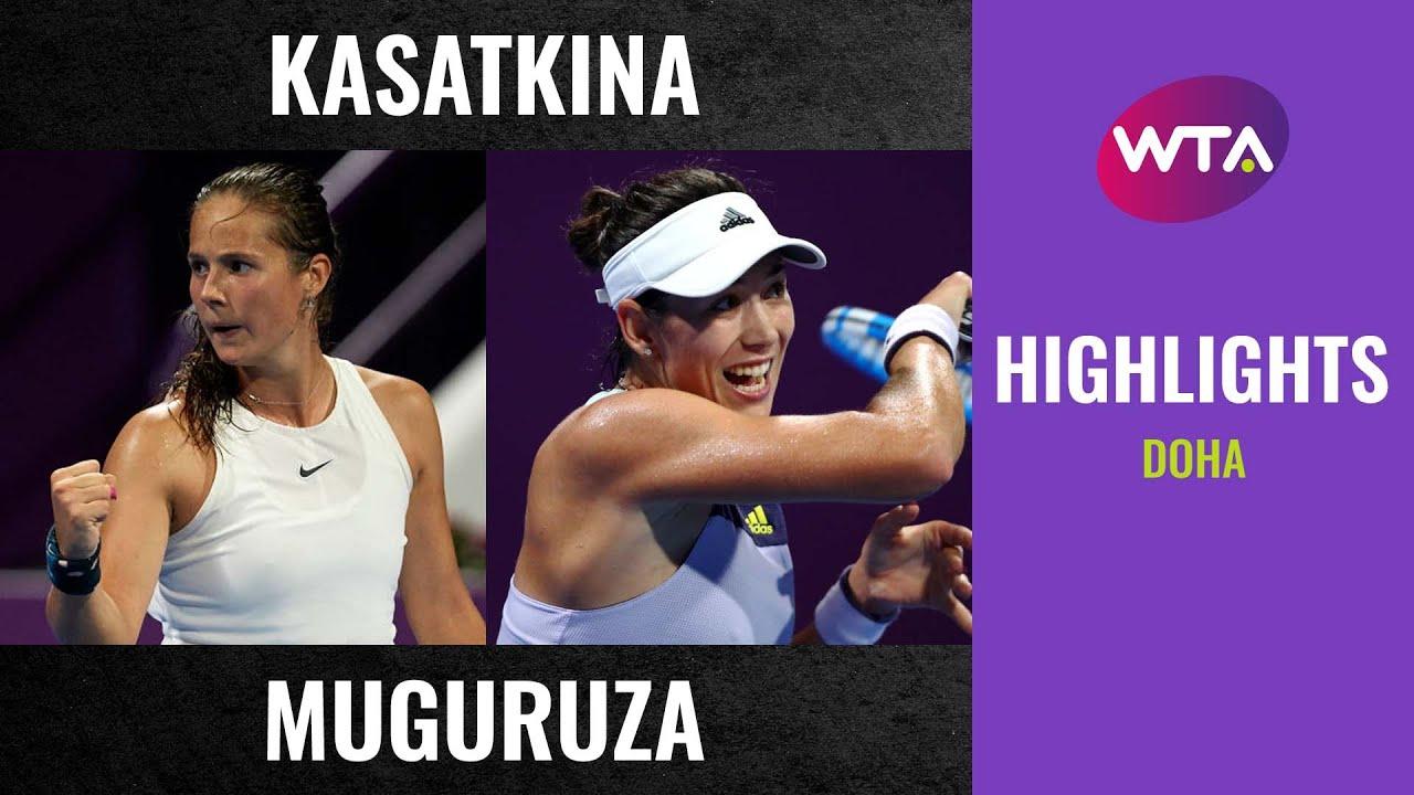 Daria Kasatkina vs. Garbiñe Muguruza | 2020 Doha First Round | WTA Highlights