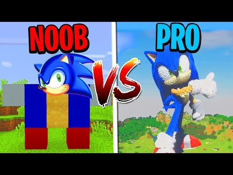 Minecraft NOOB vs. PRO: SONIC THE HEDGEHOG in Minecraft!