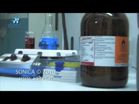 Bagno ad ultrasuoni sonica per nanotecnologie mov youtube