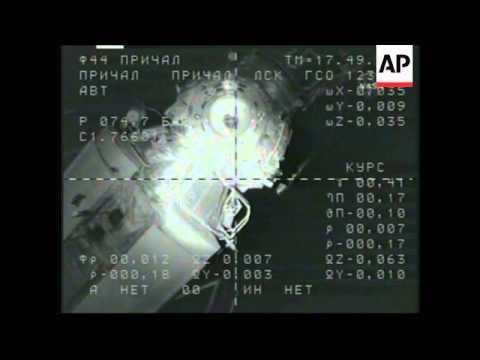 Soyuz spacecraft docks with International Space Station