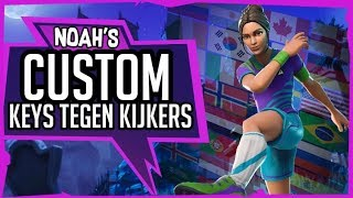 CUSTOM KEYS VAN ANDERE YTERS & €10 GIVEAWAY! // 1799+ WINS // Fortnite // Nederlands