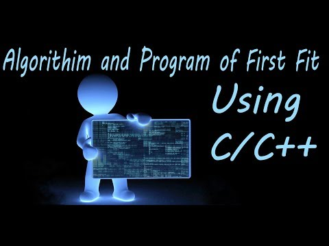 Algorithim and Program of first using C++ || Source code of First Fit || dot clu