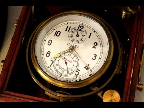 Instructions for using mechanical Soviet Marine chronometer
