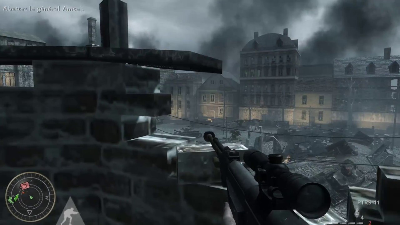 Call of Duty World at War - Eliminate General Amsel |Sniper] - YouTube