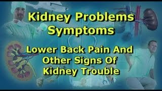 Kidney Problems Symptoms - Lower Back Pain And Other Signs Of Kidney Trouble