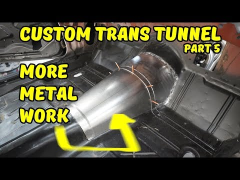 Custom Transmission Tunnel Fabrication Part 5 - More Metal Fab - 1971 Camaro