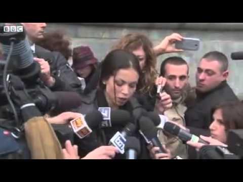 Berlusconi trial  'Ruby' Karima Mahroug at Milan court.