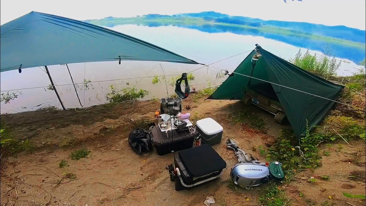 I aimed at a phantom trout in 2 days and 1 night! 【Camp where you can only go by boat】