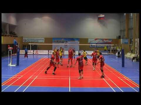 """Volleyball. Russian higher league """"A"""". MGTU Moscow - Universitet Barnaul. 3-1"""