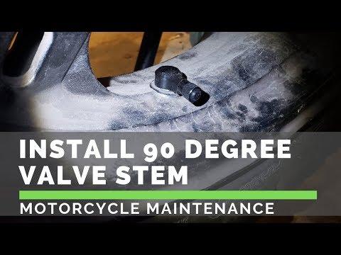 Install 90 Degree Valve Stem on Motorcycle Wheel